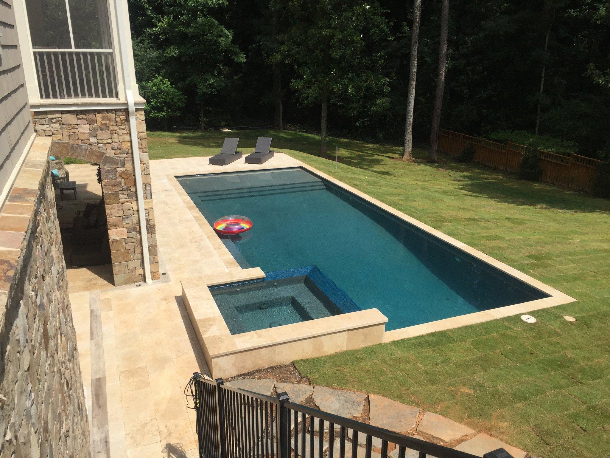 Finished backyard pool in Atlanta