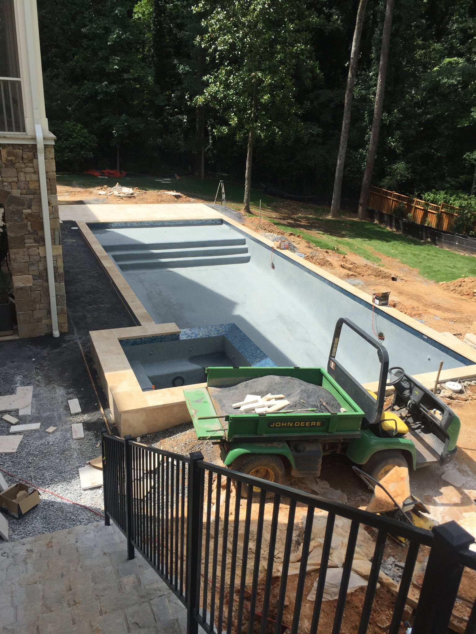 Backyard pool addition